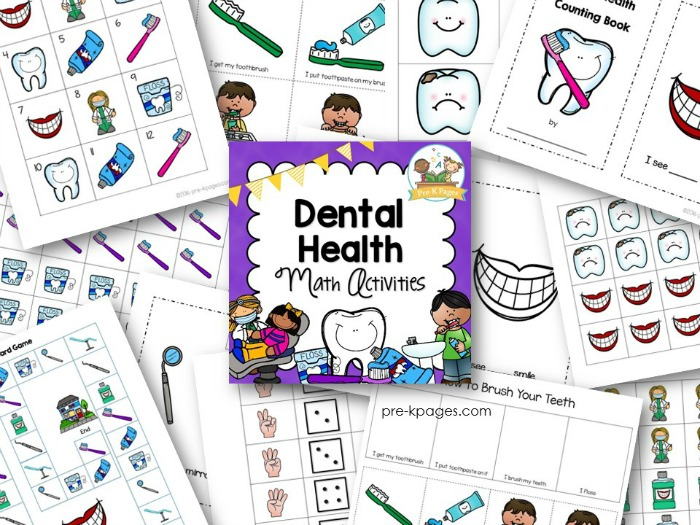 image regarding Dental Health Printable Activities named Dental Fitness Math Actions - Pre-K Web pages
