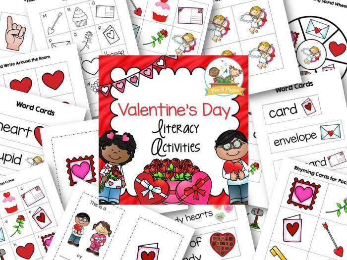 Valentines Day Literacy Activities for Preschool
