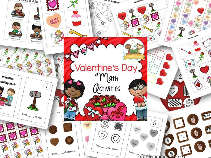 Valentines Day Math Activities for Preschoolers