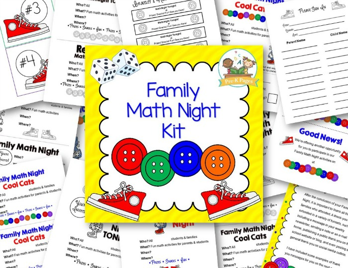 Family Math Night Activities for Pre-K