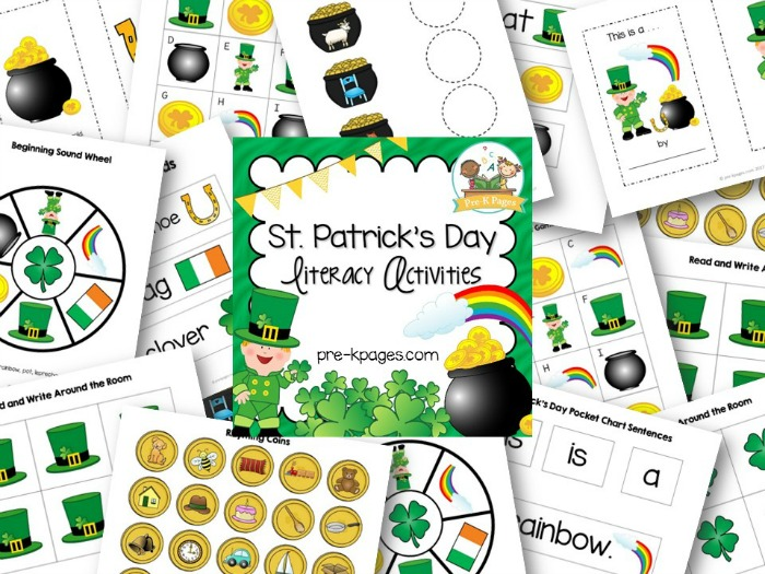 St Patricks Day Literacy Activities for Preschoolers