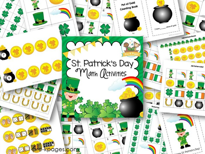 St Patricks Day Math Activities for Preschoolers