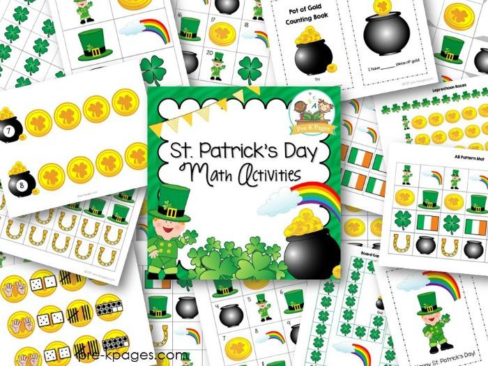 St Patricks Day Math Activities for Preschoolers