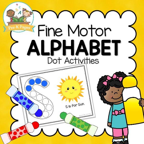 Fine Motor Alphabet Bingo Dot Activities for Preschool