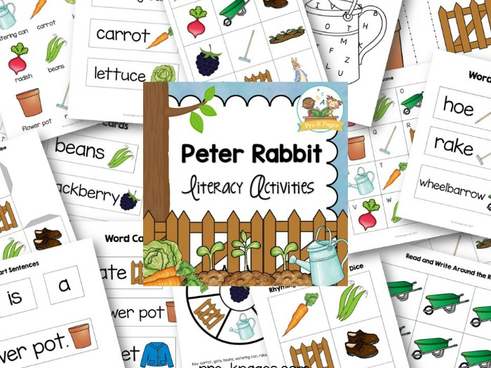 Peter Rabbit Literacy Activities for Preschoolers