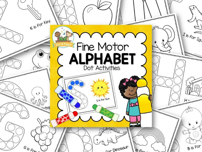Printable Fine Motor ABC Activities for Preschool