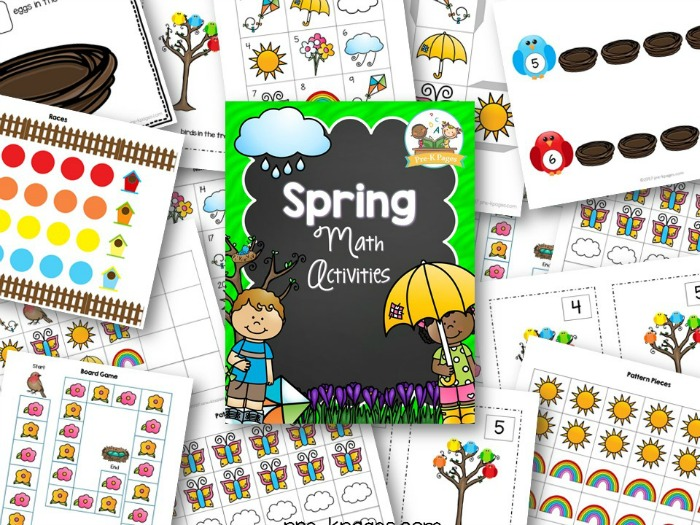 rintable Spring Math Activities for Preschool
