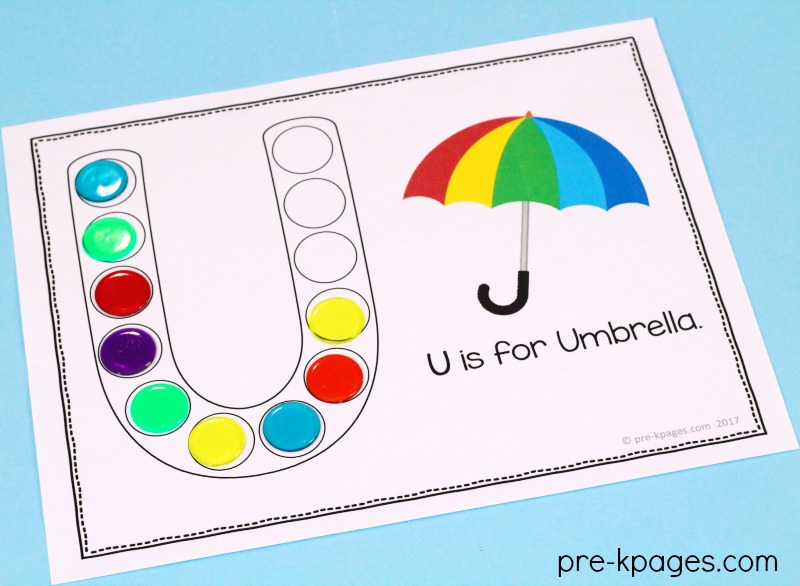 Printables for Learning the Alphabet in Preschool