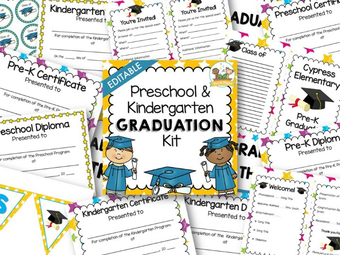 preschool graduation kit pre k pages