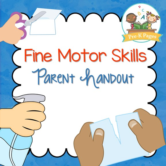 Printable Fine Motor Skills Parent Handout for Preschool and Kindergarten