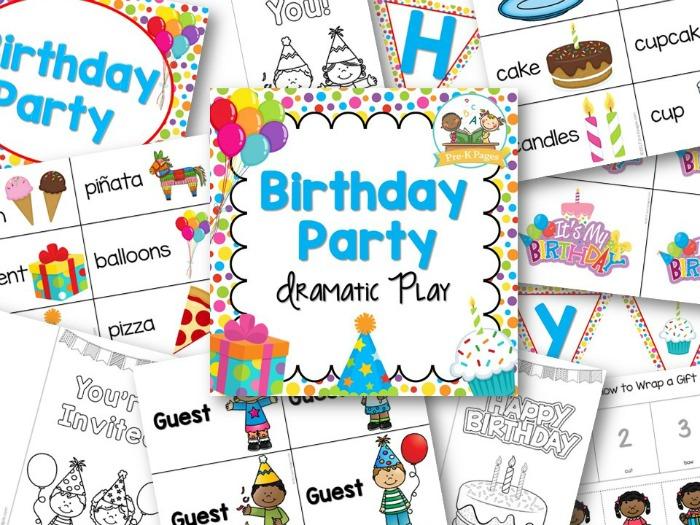 Pretend Play Birthday Party Printables