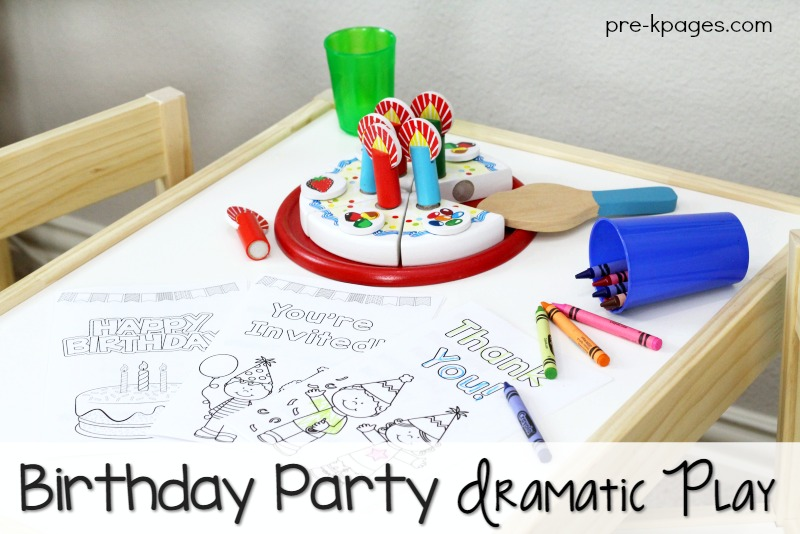 Printable Birthday Party Dramatic Play Kit