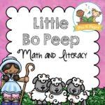 Little Bo Peep Printable Activities for Preschool Nursery Rhyme Theme