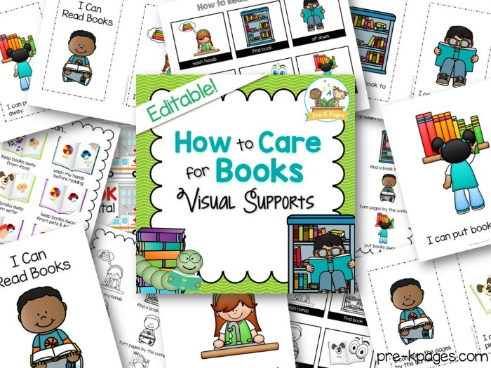 Printable Book Handling Skills Kit for Preschool and Kindergarten