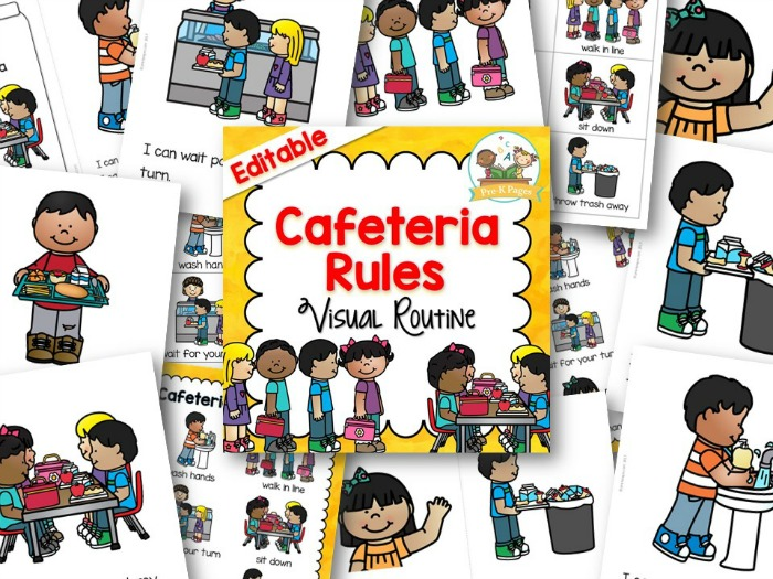 Cafeteria Visual Routine for Preschool and Kindergarten