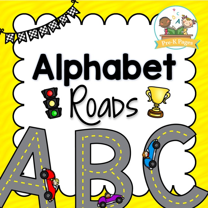 Printable Alphabet Road Mats for Preschool