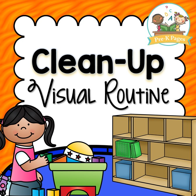 Picture Prompts to Help Teach Your Preschool Students How to Clean Up