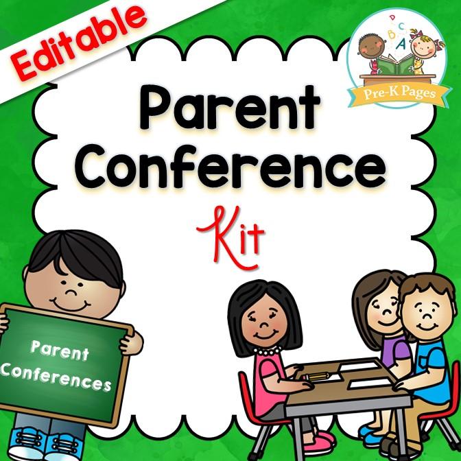 Editable Parent Conference System For Preschool Pre K And Kindergarten Teachers