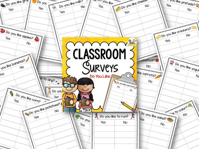 Printable Classroom Surveys for Preschool and Pre-K Classrooms