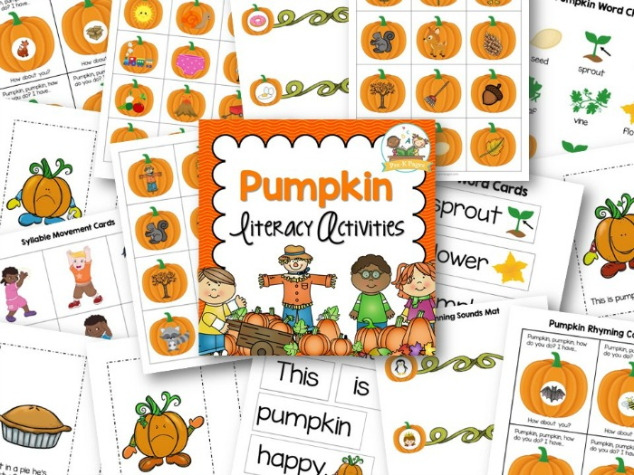 Printable Pumpkin Theme Literacy Activities for Preschool