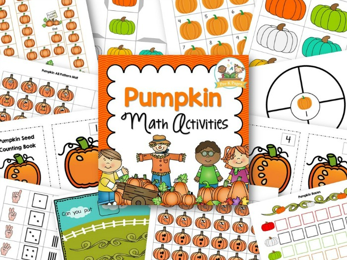 Printable Pumpkin Theme Math Activities for Preschool and Kindergarten
