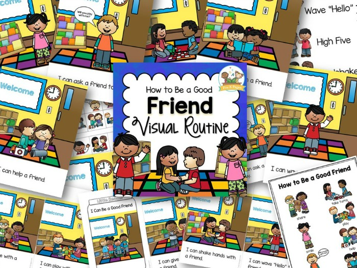 How to be a good friend visual routine for preschool and kindergarten
