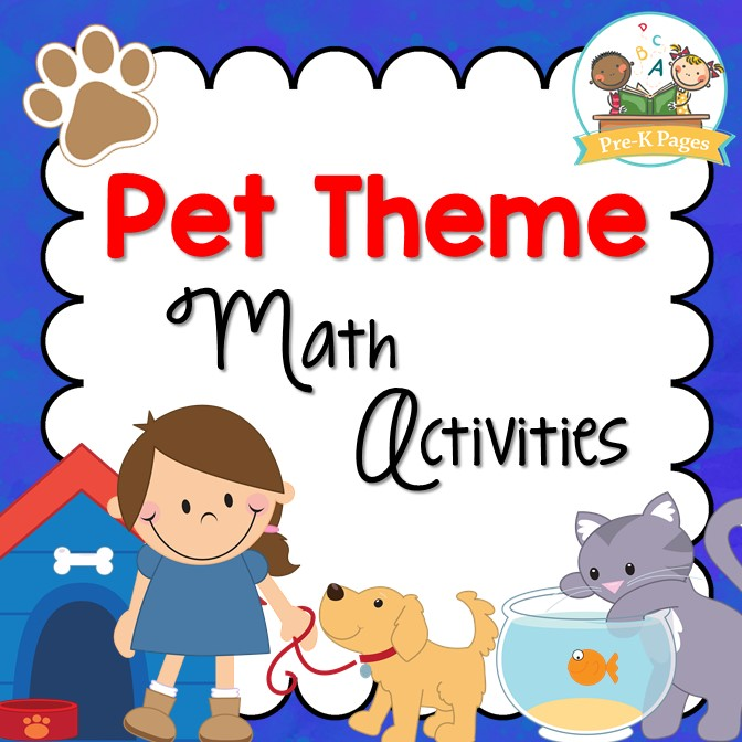 Pet theme math activities for preschool and kindergarten