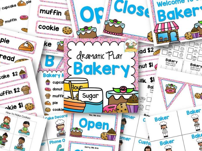 Bakery Dramatic Play Center for Preschool