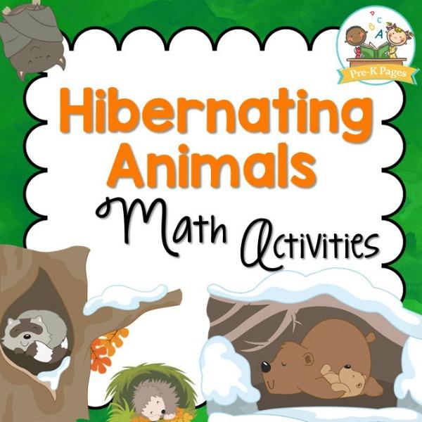 Hibernation Theme Math Activities for Preschool and Kindergarten