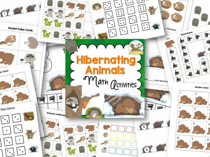 Hibernation Theme Math Activities for Preschool and Pre-K