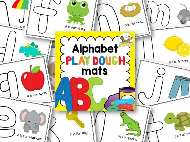 Lowercase ABC Play Dough Mats