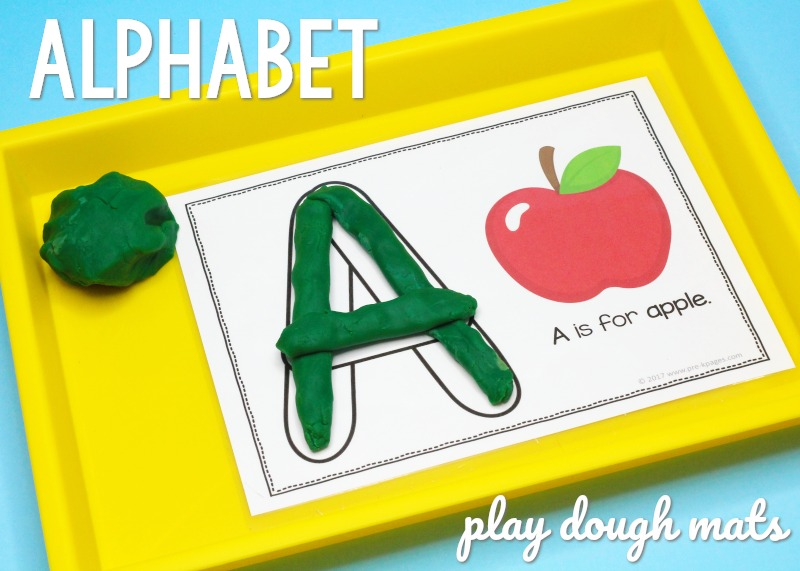 Playdough ABC Mats for Preschool