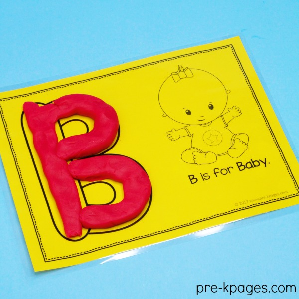 Printable ABC Playdough Mats for Preschool