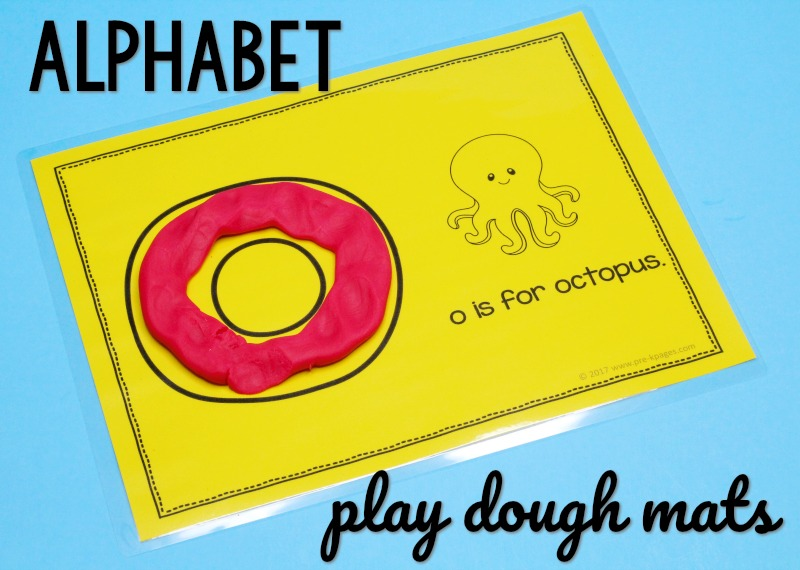 Printable Alphabet Play Dough Mats for Preschool