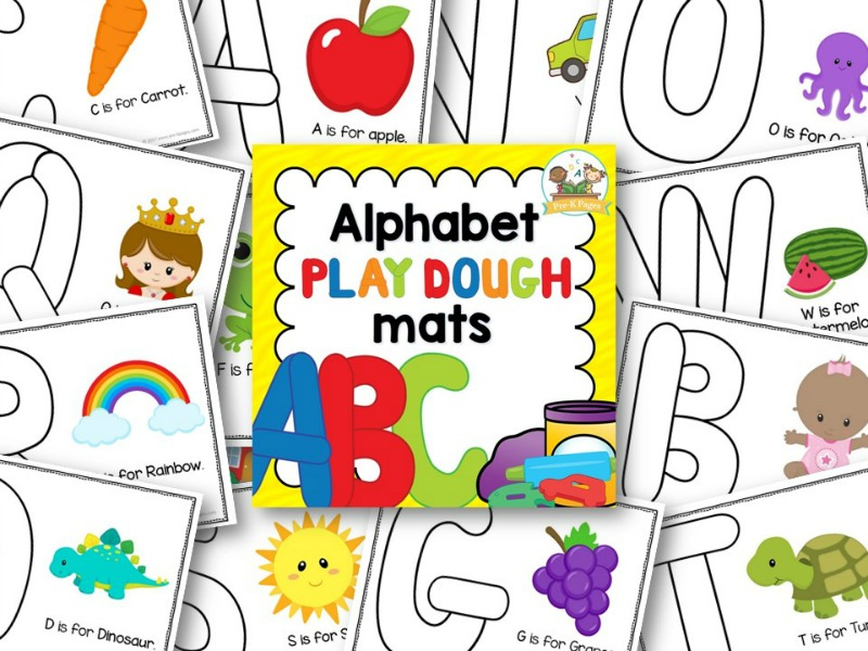 Uppercase ABC Playdough Mats