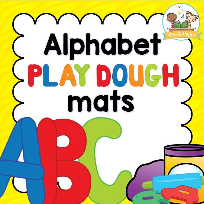 Printable ABC Play Dough Mats for Preschool