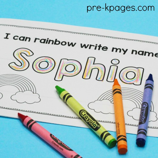 Editable Name Books for Preschool