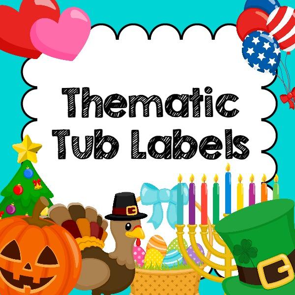 Printable Theme Tub Labels for Preschool