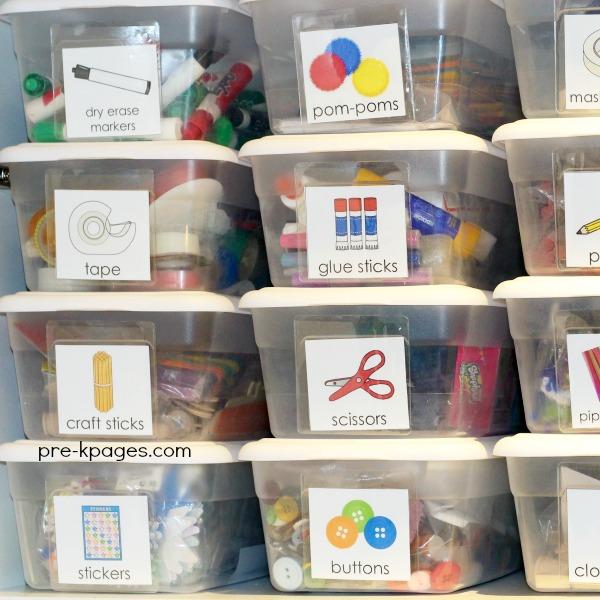 Art and Craft Supply Storage in Preschool