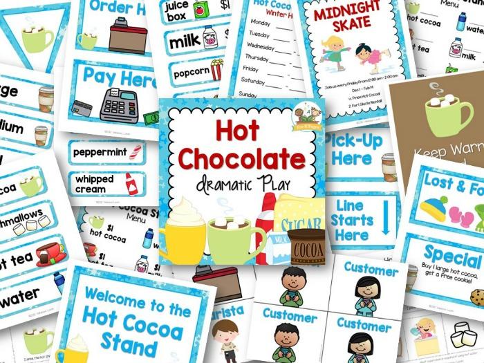 Hot Chocolate Dramatic Play Printables for Preschool