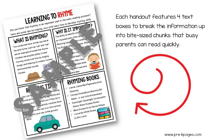 Printable Parent Handouts Volume 2 Color