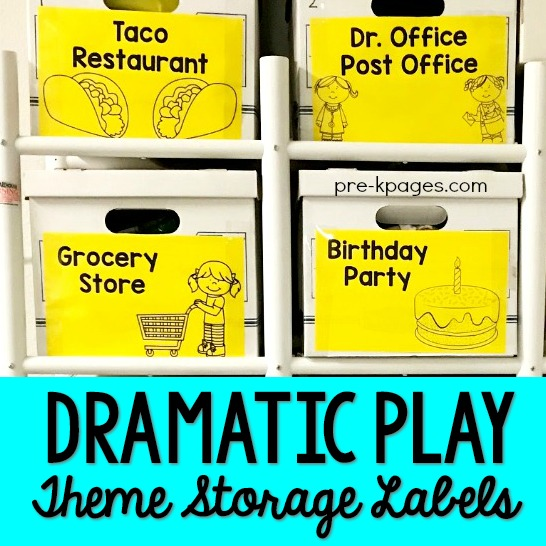 Printable Dramatic Play Theme Storage Labels