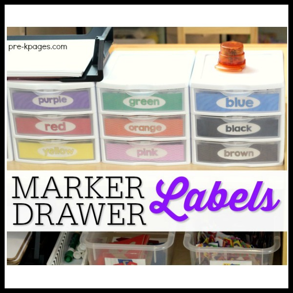 Printable Marker Drawer Storage Labels for the Classroom