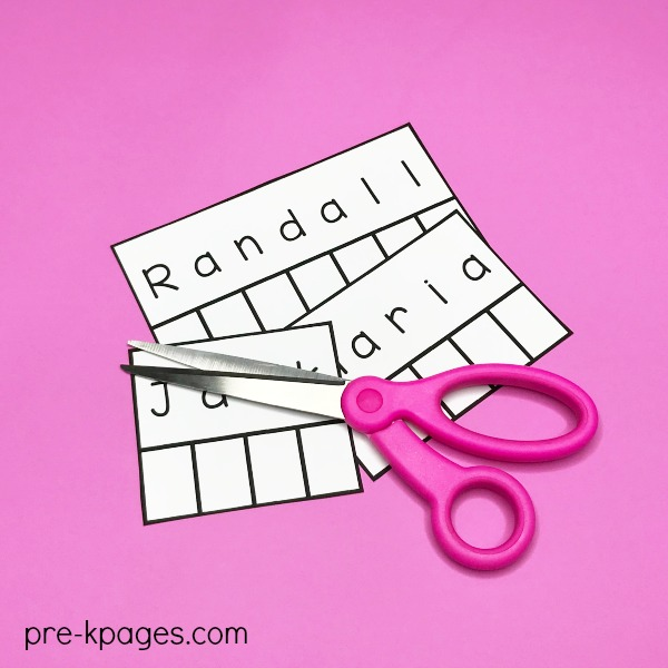 Learning Names Activity for Preschool
