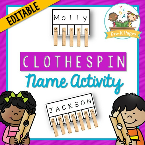 Printable Clothespin Name Activity