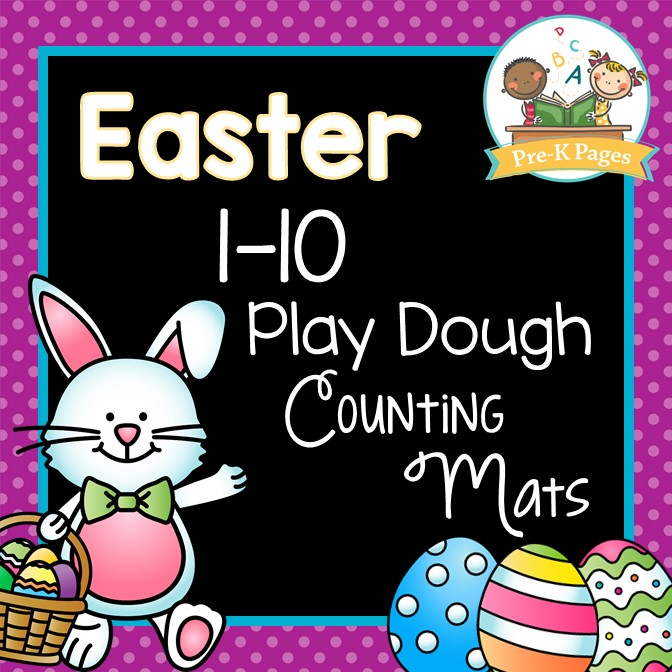 Printable Easter Play Dough Counting Mats