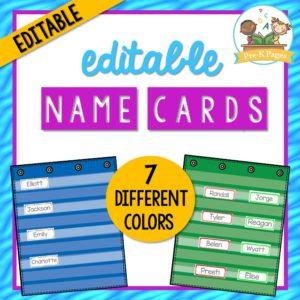 Editable Name Cards