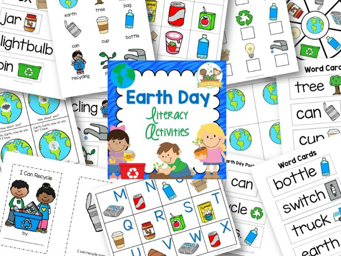 Printable Earth Day Literacy Activities