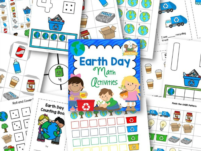 Printable Earth Day Math Activities for Preschool