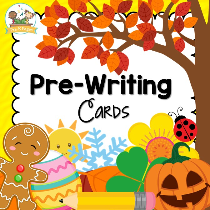 Printable Pre-Writing Cards for Preschool